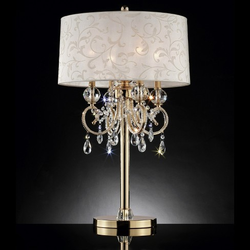Aurora Barocco Crystal Table Lamp Gold 32 5 Includes Energy Efficient Light Bulb Ore International Target