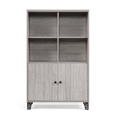 Justina Mid Century Cabinet Gray Oak Brown - Christopher Knight Home