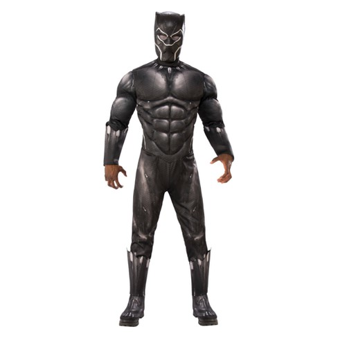 Marvel Men's Deluxe Black Panther Muscle Halloween Costume - image 1 of 1