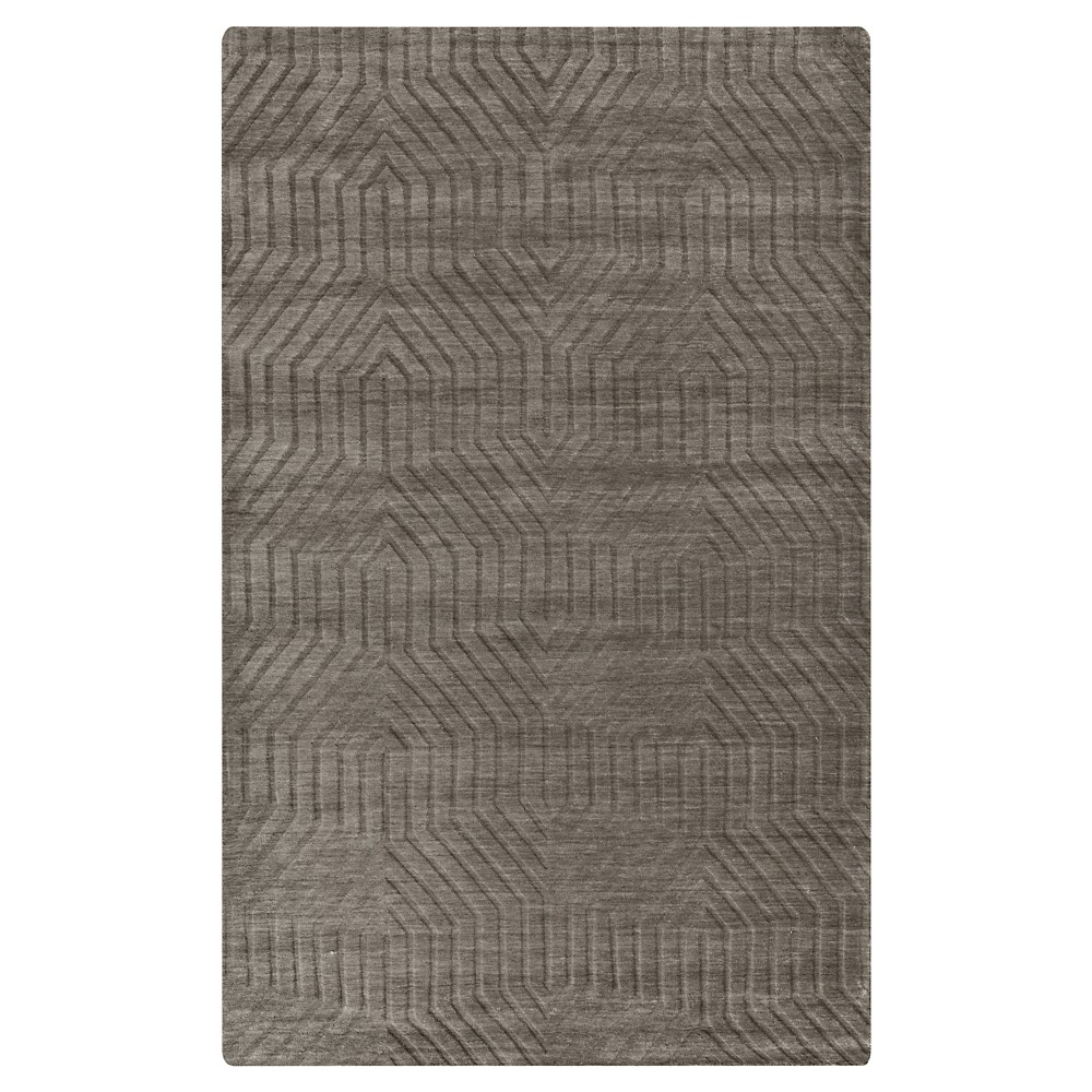 5'X8' Solid Area Rug Soft Taupe - Rizzy Home