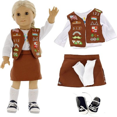 Dress Along Dolly Brownie Girl Scout Outfit for American Girl Doll