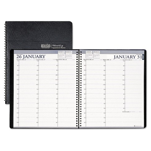 House of Doolittle™ Recycled Two-Year Professional Weekly Planner, 8 1/2 x 11, Black, 2017-2018 - image 1 of 1