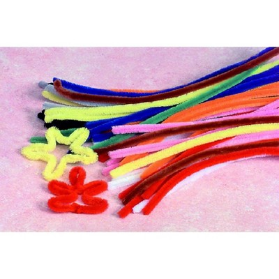 Creativity Street Colossal Chenille Stem, 1/2 x 19-1/2 Inches, Assorted Color, set of 50