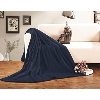 Elegant Comfort Luxury All-Season Ultra Plush Solid Velour Fleece Blanket.
