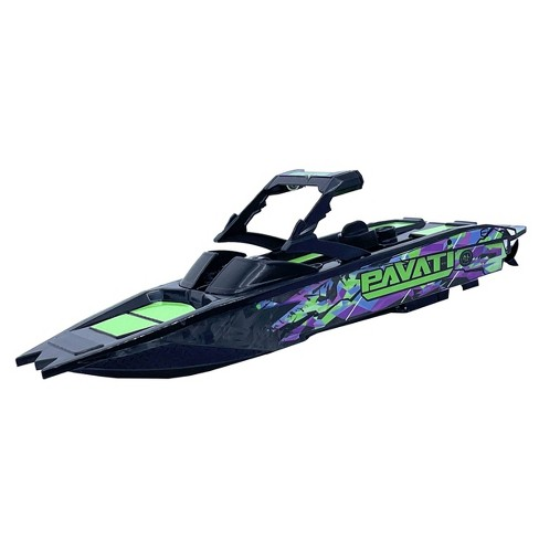 Hyper Nano RC Pavati Wakeboard Boat - Black with Purple Graphics - image 1 of 4