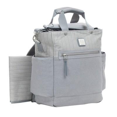 Ergobaby Stripe Diaper Bag - Gray