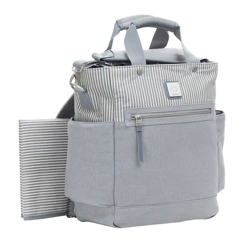 Image of Ergobaby Stripe Diaper Bag - Gray