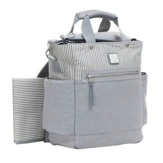 Ergobaby Stripe Diaper Bag - Gray