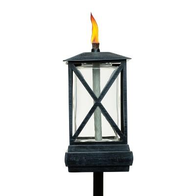 "65"" 2pk Square Beacon Metal Torch Black - TIKI"