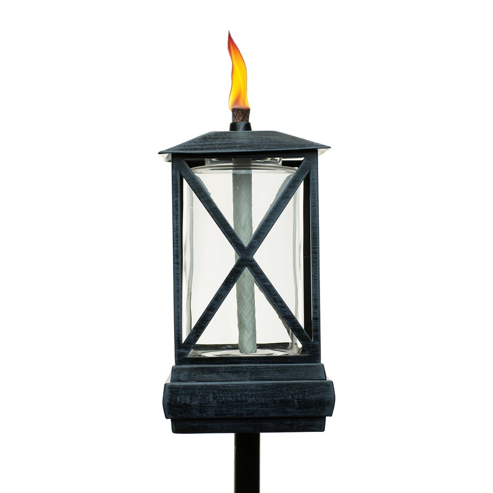 "Image of ""65"""" 2pk Square Beacon Metal Torch Black - TIKI"""