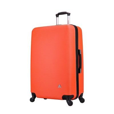 """InUSA Royal 24"""" Lightweight Hardside Spinner Suitcase - Orange"""