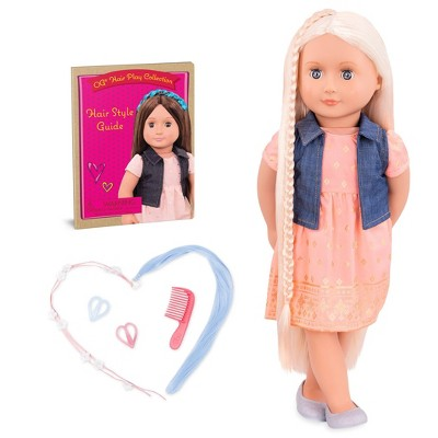 """Our Generation Lyra with Style Book 18"""" Hair Play Doll"""
