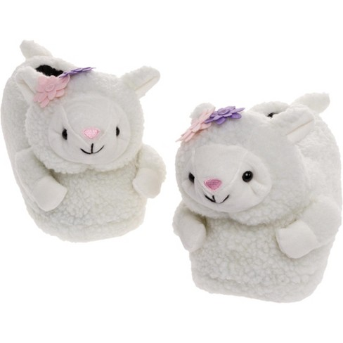 FUNZIEZ! - Women's Lamb Animal Slippers - image 1 of 4