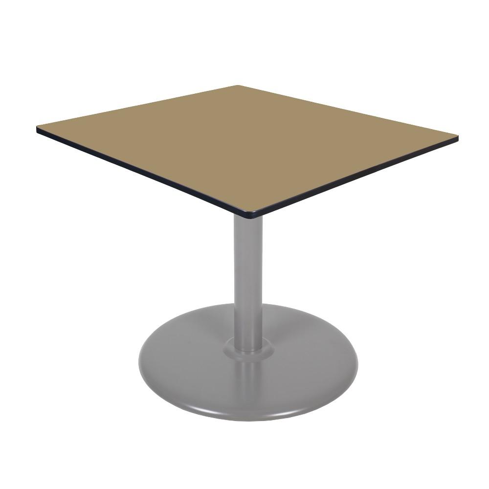 48 Via Square Platter Base Table Gold/Gray - Regency