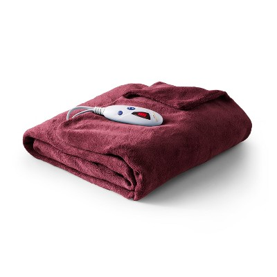Microplush Electric Throw (62 x50 )Red - Biddeford Blankets