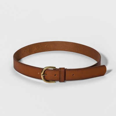 Women's Casual Skinny Leather Jean Belt with Single Prong Buckle - Universal Thread™