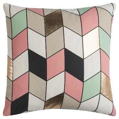 Gray Geometric Holiday Throw Pillow (20 x20 )- Rizzy Home