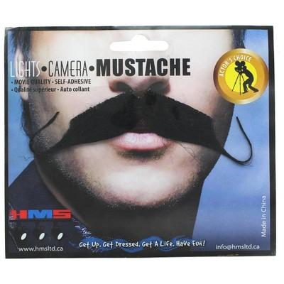 HMS Aristocrat Black Synthetic Hair Adult Costume Moustache