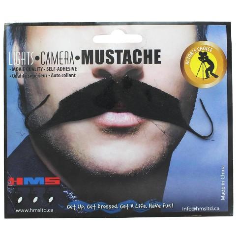 HMS Aristocrat Black Synthetic Hair Adult Costume Moustache - image 1 of 1