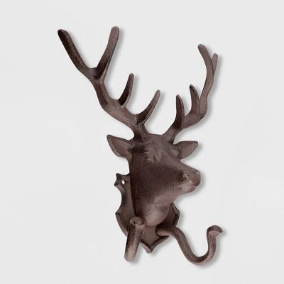 """11"""" Iron Deer Wall Decor Brown - Esschert Design"""