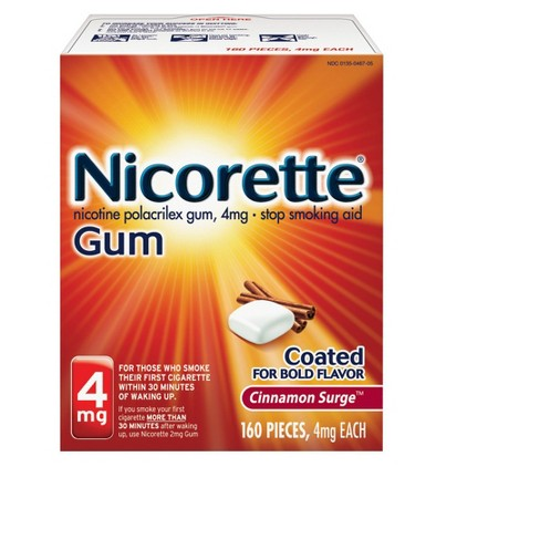 Nicorette 4mg Stop Smoking Aid Gum - Cinnamon Surge - image 1 of 4