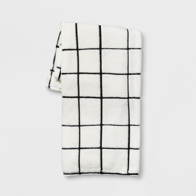 Cream and Black Grid Throw - Room Essentials™