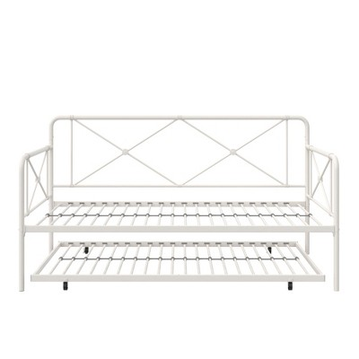 RealRooms Ally Metal Farmhouse Daybed with Trundle