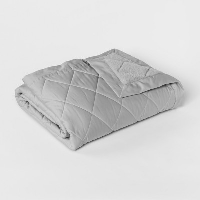 Full/Queen Luxury Bed Blanket Charcoal Gray - Fieldcrest®
