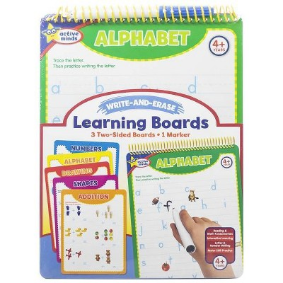 Active Minds My First Write-And-Erase Learning Boards - (Write and Erase) by  Sequoia Children's Publishing (Spiral Bound)