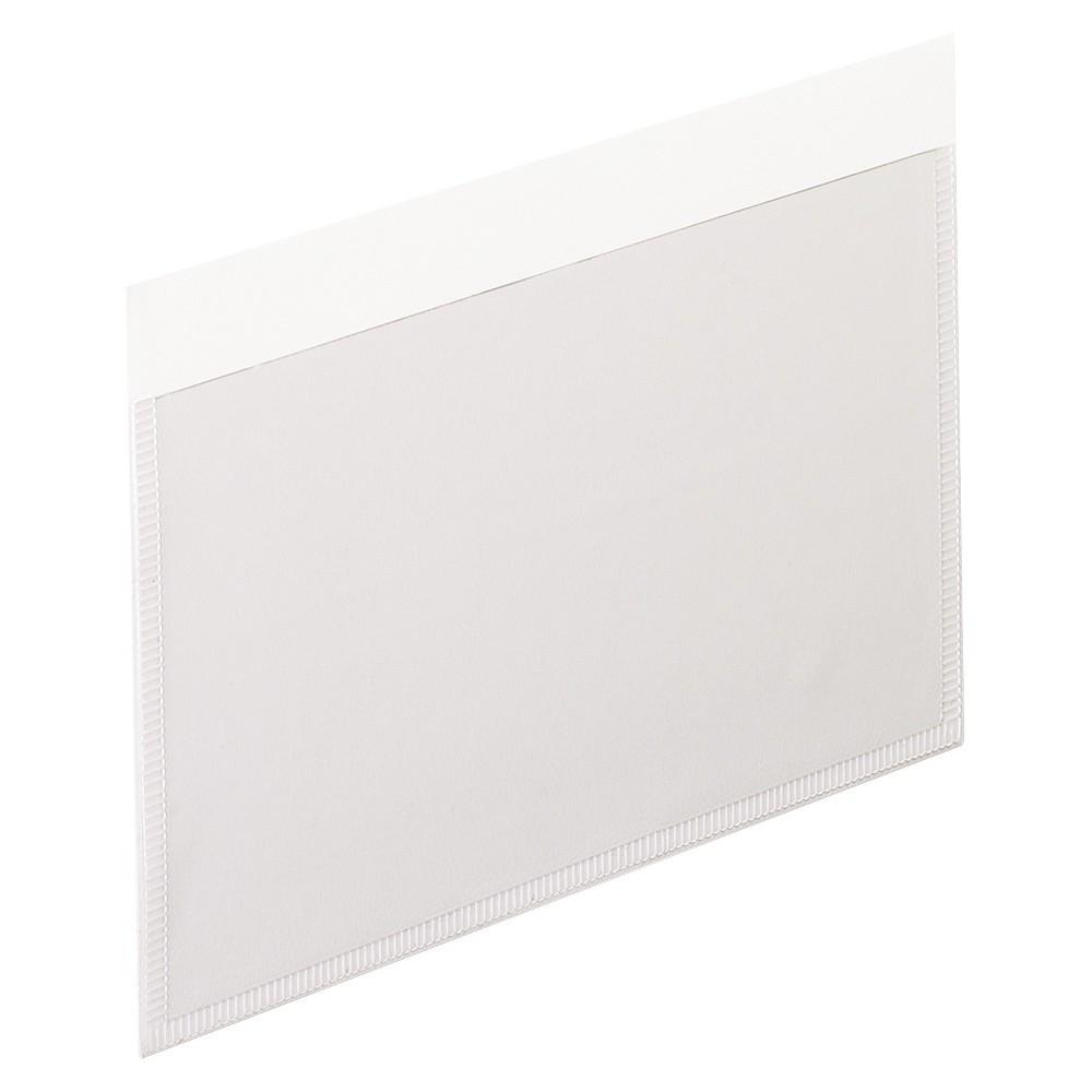 Pendaflex Self-Adhesive Vinyl Pockets, 3 x 5, Clear Front/White Backing, 100/Box