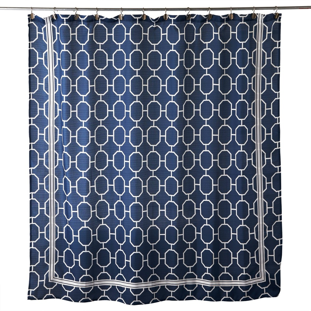 Vern Yip Lithgow Shower Curtain Blue Skl Home