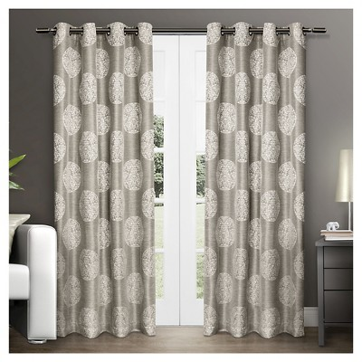 Set of 2 Akola Curtain Panels Natural (54 x84 )- Exclusive Home®