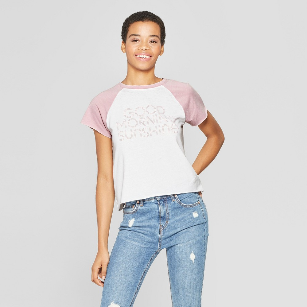 Women's Short Sleeve Good Morning Sunshine Graphic T-Shirt - Grayson Threads (Juniors') - White Xxl