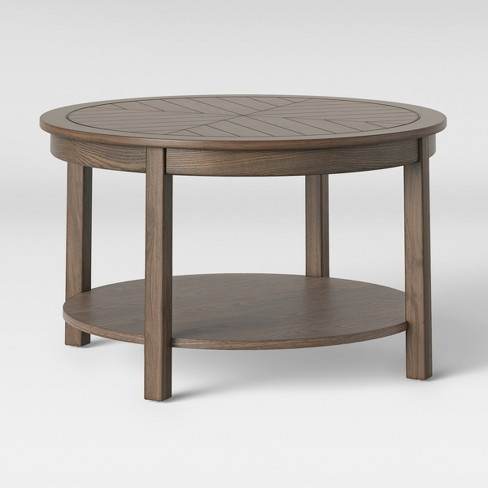 Eastford V Pattern Coffee Table Brown - Threshold™ - image 1 of 4