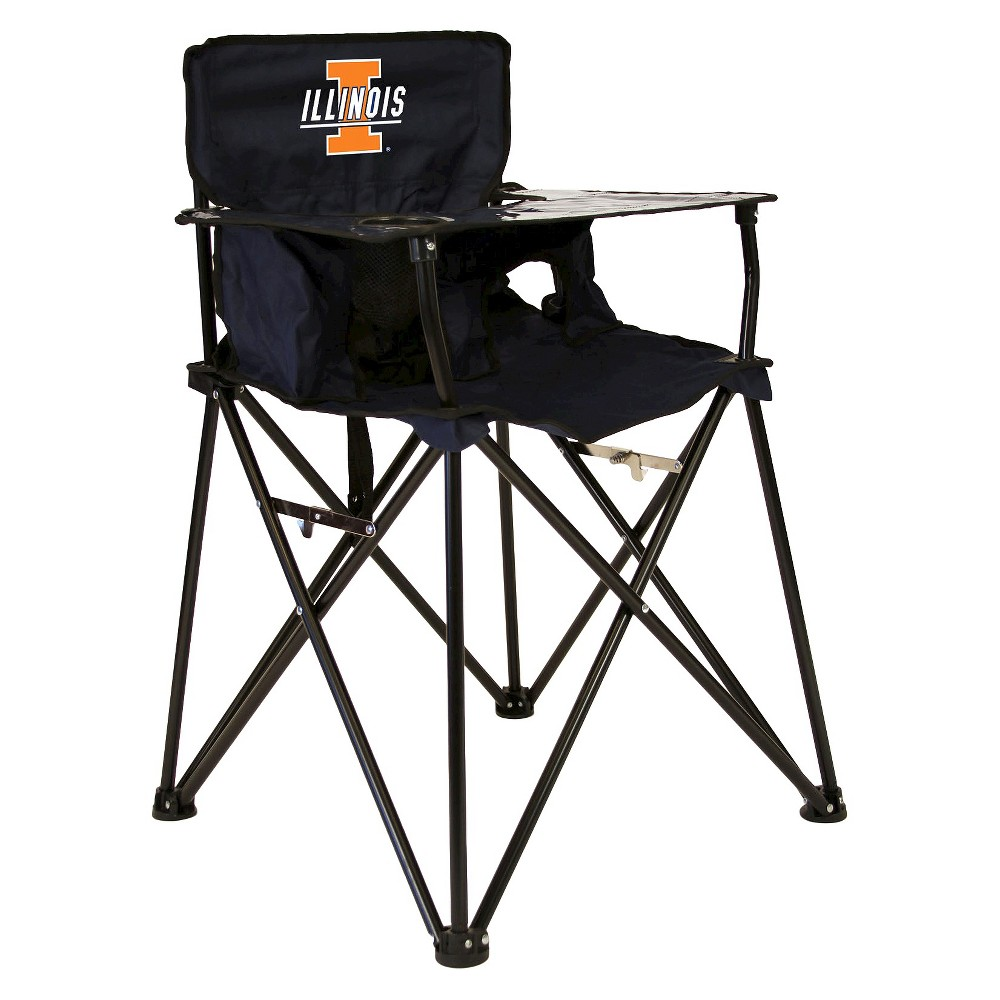 ciao! baby University of Illinois Fighting Illini Portable High Chair in Navy, Multi-Colored
