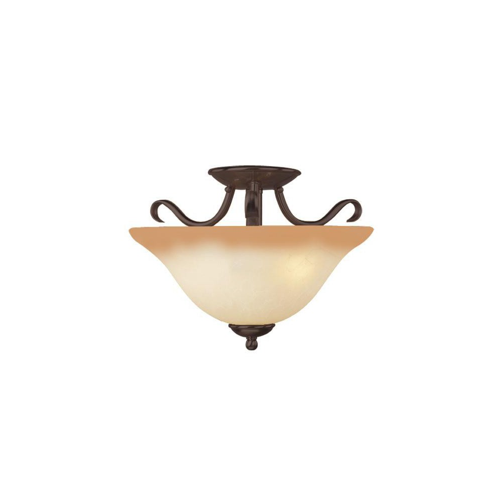 Image of Basix 2 Light Semi Flush, Medium Off-White