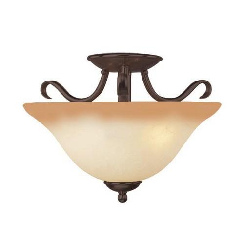 Basix 2 Light Semi Flush, ceiling lights