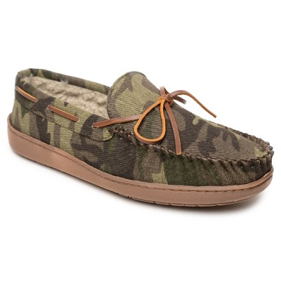 Minnetonka Men's Textile Tory Trapper Moccasin Slippers