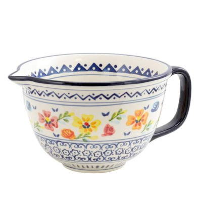 Gibson Home 64oz Stoneware Luxembourg Batter Bowl
