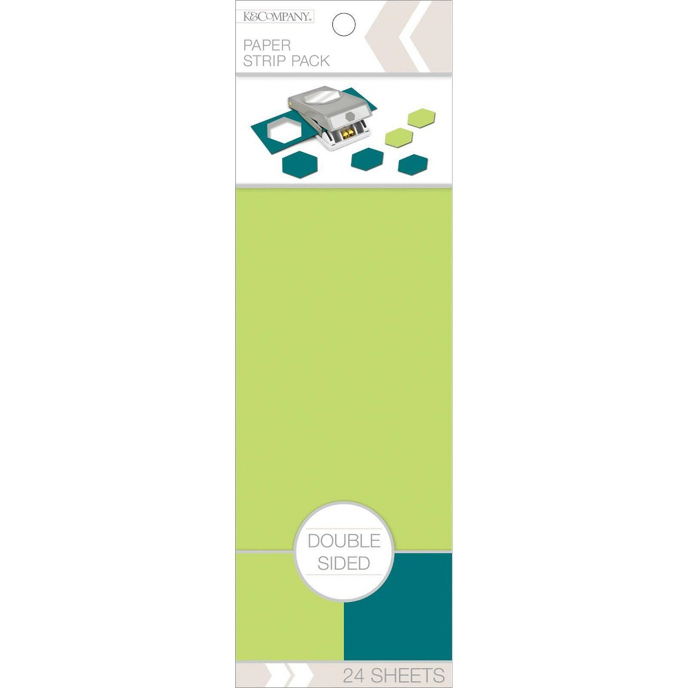 Image of K&Company 24pc Double Sided Paper Strip Pack