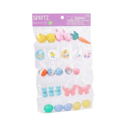 25ct Plastic Egg Filler Easter Toys Giveway Pack - Spritz™