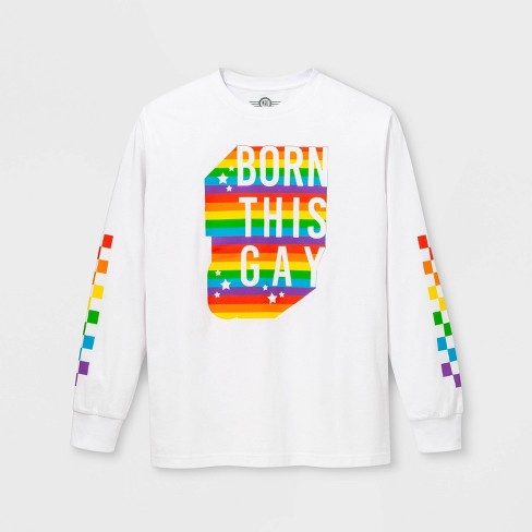 82fb77cd18d7 Pride Adult Long Sleeve Born This Gay Gender Inclusive T-Shirt - White :  Target
