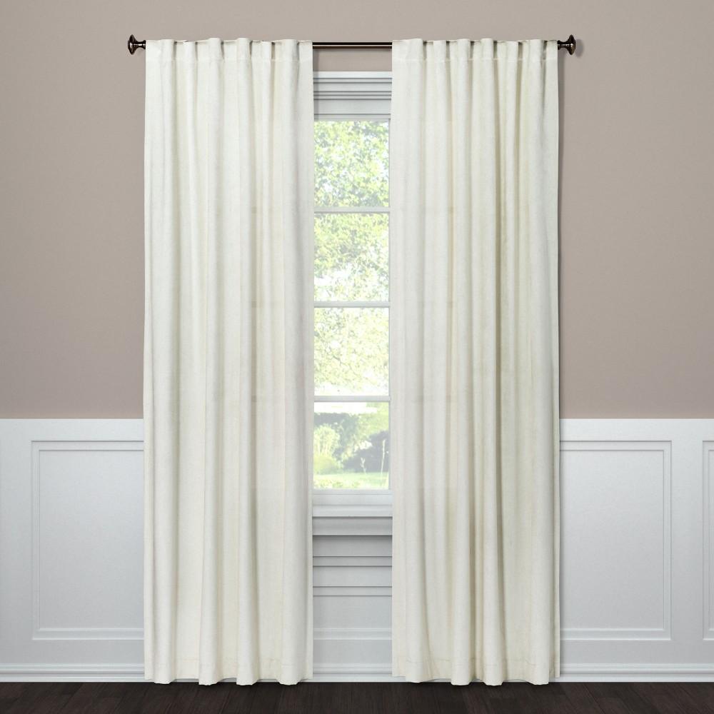 Curtain Panel Velvet Cream (Ivory) 63 - Project 62