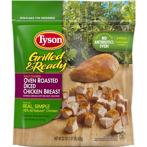 Tyson Grilled & Ready Oven Roasted Diced Frozen Chicken Breast - 22oz - image 1 of 4