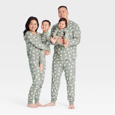 Halloween Ghost Print Matching Family Pajama Collection - Gray