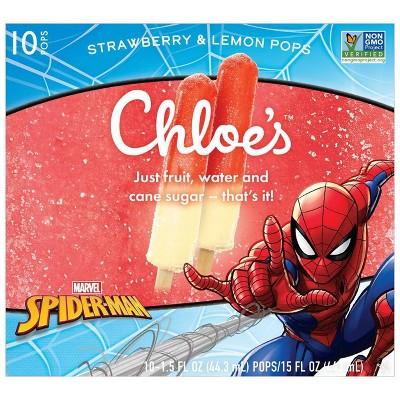 Chloe's Marvel Spider-Man Strawberry & Lemon Frozen Fruit Pops - 10ct/15oz