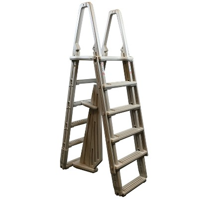 Confer 7100X Evolution A-Frame 48 to 54 Inch Above Ground Swimming Pool Ladder