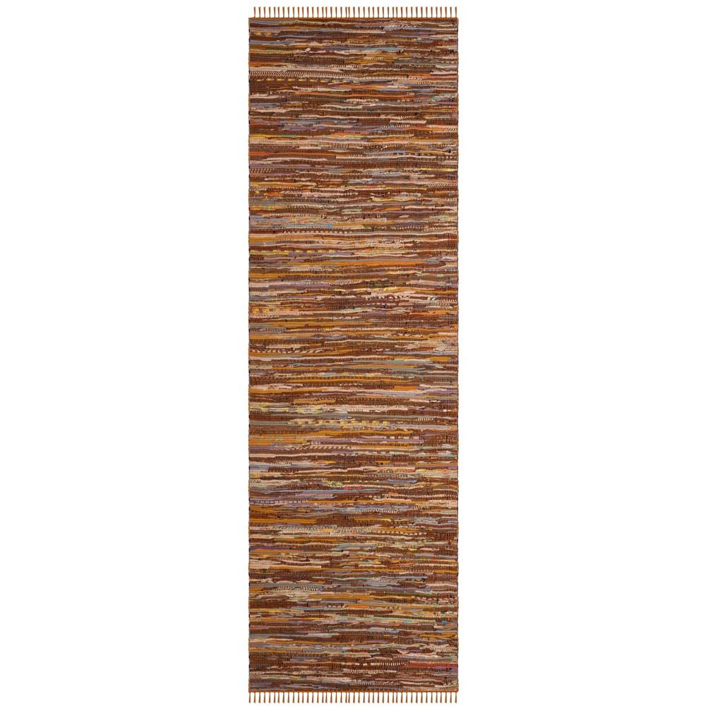 2'3X12' Woven Spacedye Design Runner Rug Gold - Safavieh, Gold/Multi-Colored