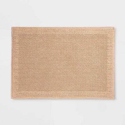"30""x21"" Performance Textured Bath Mat Bare Canvas Tan - Threshold™"