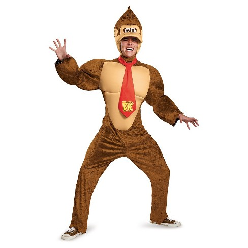 Super Mario Brothers Donkey Kong Men's Deluxe Adult Costume X-Large - image 1 of 1